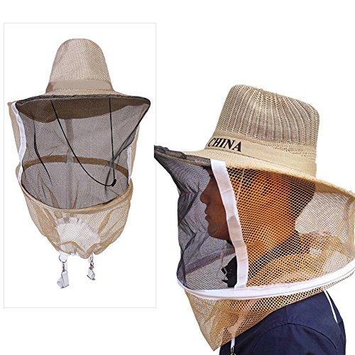 Top-sell Apicultor Apicultura Sombrero de Cow–Boy de los Bee mosquitera Vela Visage Chef Protector