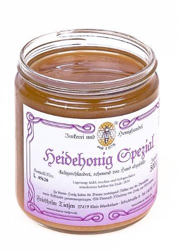 Heidehonig Spezial 500g - herzhaftes Aroma, naturbelassen (von Imkerei Nordheide) (Griechischer Reiner Honig)