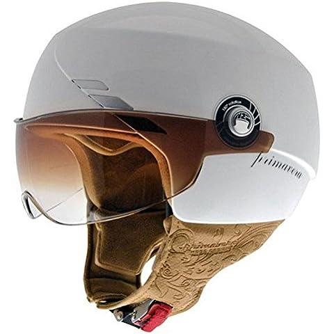 NZI 050240G008 Primavera Pearl White, Casco da Moto, Bianco, Taglia S - Moto Pearl White Moto
