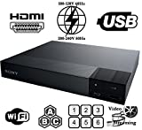 SONY BDP-S3700 Multi Zone Region-Free Blu Ray - DVD - CD Player - pal ntsc - Worldwide Voltage 100~240V - 1 USB, 1 HDMI, 1 COAX, WiFi 6 Feet HDMI Included