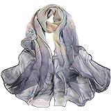 ABsoar Schals Damen 2018 Mode Lotus Druck Lange weiche Wrap Schal Halstücher Umschlagtücher Loop Halstuch Kopftücher Halsschmuck unisex Mädchen Tücher
