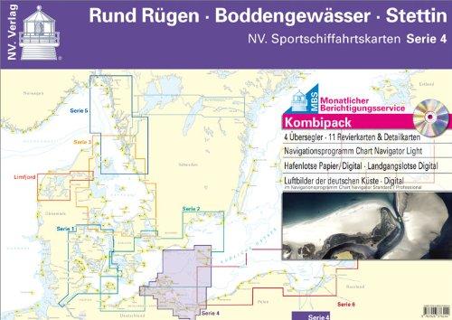 Bodden Stettin # Sportschifffahrt Karten App NV Serie 4 Kombipack Rund Rügen