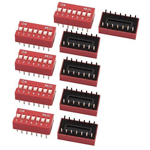 DealMux 10PCS 2,54 mm paso 14 Terminales 7 posiciones