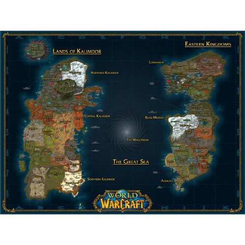 World of Warcraft – Karte Seiden Plakat