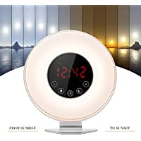 OXOQO Lichtwecker, Wake Up Licht Sonnenaufgang Simulation Wecker Nachttischlampe Sunrise Alarm Clock mit Snooze-Funktion... preisvergleich bei billige-tabletten.eu
