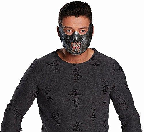 Mottoland Kostüm Zubehör Halbmaske Maske Kannibale Psychopath Halloween (Psychopath Kostüm)