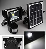 LED-Fluter mit Bewegungsmelder 10W, 1000 Lumen, 4200K, 3W Solar-Zelle, Akku