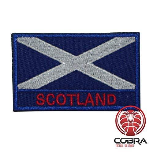 Cobra Tactical Solutions Military Patch Bestickt Patch mit Klettverschluss für Airsoft/Paintball Flagge Schottland für Taktische Rucksack Kleidung.
