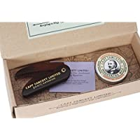Captain Fawcett - Wax and Moustache Comb Gift Set - Bartpflege-Set