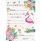 Jean Barrington Flamingo Party Invitations Pack of 20
