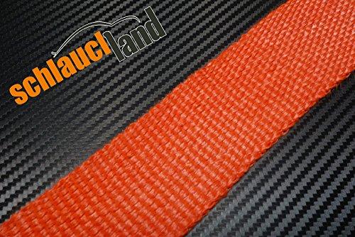 10m Hitzeschutzband ROT 50mm SCHLAUCHLAND*** Auspuffband Thermoband Krümmerband Heat Wrap Basaltfaser Isolierband