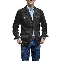 Gemijacka Mens Lightweight Safari Jackets Casual Outdoor Linen Button Down Blazer Long Sleeve Open Front Suits Coat…
