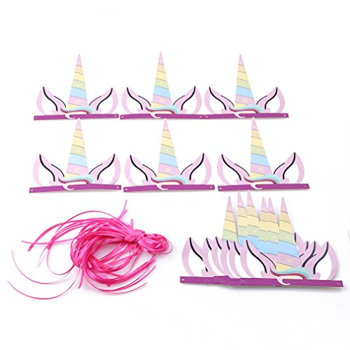 Einhorn Party Hüte Geburtstag Horn Hüte Einhorn Thema Party Supplies für Kinder Erwachsene (Einhorn Hüte)
