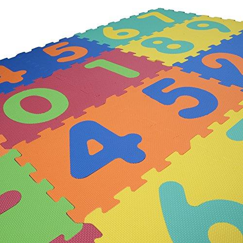 Mamatoy - Puzzle infantil 123 Mamababy - Alfombra de goma EVA suave para niños, por piezas, con números y símbolos matemáticos desmontables. Juguete apto para bebés a partir de 10 meses - Dimensiones de cada pieza: 32 cm x 32 cm x 1 cm de alto - Total 26 Piezas