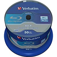 Verbatim BD-R 25Gb / Tarrina 1-6X (50 Discos) La Vida De Datos, Blanca Superficie Azul