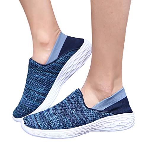 Dorical Damen Sportschuhe Leichte Lauf Atmungsaktive Sport Turnschuhe, Frau Mann Laufschuhe Ultraleichte Mesh-Trainer Atmungsaktive Freizeitschuhe Sportschuhe Sneaker(Blau,38 EU)