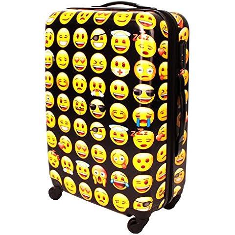 Emoji maleta rígida, mallet de viaje, trolley, top-case, beauty-case ABS / policarbonato amarillo/ negro