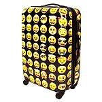 Emoji Hartschalen Koffer, Trolley, Reise Gepäck, Reisekoffer, aus leichtem / robustem ABS / PC, in 3 grössen, auch als Handgepäck (XL (75cm))