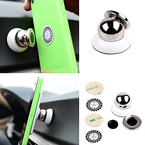 New Rotating 360° Degree Magnetic Mount Car Dash Mobile Holder Universal / Hold Phone For GPS TOM TOM, Iphone, Samsung Galaxy, LG, Nokia, Window, Note, Sony, HP, HTC ,Nexus and all Mobile Cell Phones - (White Colour) UK SELLER
