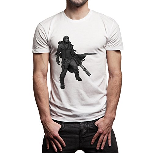 Fall Out 4 Computer Game Art Shooting Original Ranger Background Herren T-Shirt Weiß