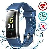 LATEC Fitness socken mit Pulsmesser, IP68 Wasserdicht Fitness Trackers Farbbildschirm Aktivitätstracker Fitness Uhr Smartwatch Pulsuhren Blutdrucküberwachung Schlafmonitor Schrittzähler Anruf SNS SMS