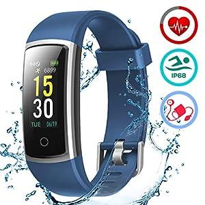 LATEC Pulsera Actividad Inteligente Pulsómetro y Presión Arterial Relojes