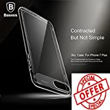 BlueInk Sky Series Baseus Ultra Slim Transparent Hard PC Back Case For iPhone 7 Plus With Impact Protection (Black)