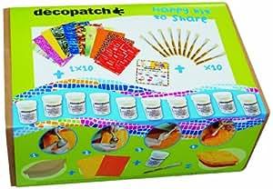 Décopatch - CSDB10O - Loisir créatif - Kit Collectivité Permanent Comprenant 10 Feuilles, 30 x 40 cm