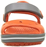 crocs Unisex-Kinder Crocband Sandal Kids Clogs, Rot (Tangerine/Smoke), 32-33 EU (1) - 4