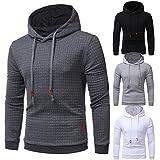 bbsmile Herren Art und Weise dünner Hoodie entworfener Pullover langer Hülsen-Mantel-outwear Strickjacke-beiläufige Jacken-Oberseiten, plus Größe (M-3XL) (3XL, Dunkelgrau)