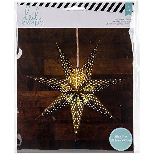 American Crafts Heidi Swapp Sept points Star Lanterne en papier aluminium doré 45,7 cm, acrylique, multicolore