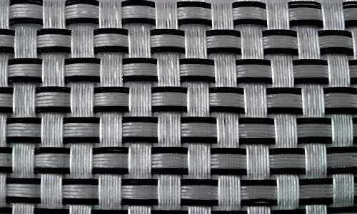 Tenax Zaun Glasdekor Sichtschutz TexStyle Silber/Schwarz 500x 0,1x 100cm - Zaun Verteidigung