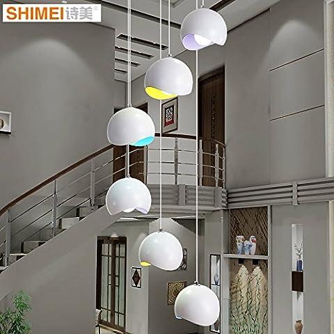Moderno e minimalista scalinata a spirale lampadario