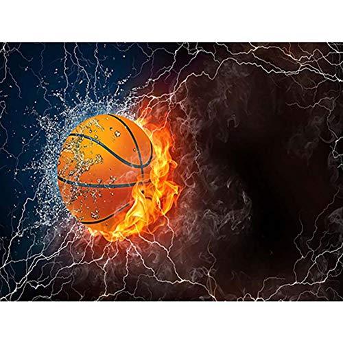 Fablcrew Maler-Set, Diamant-Stickerei, Diamant-Malerei, Diamond Painting, Motiv Basketball -