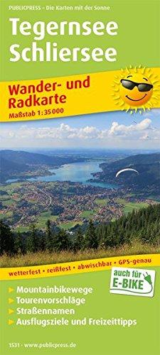 Tegernsee, Schliersee: Wander- und Radkarte mit Ausflugszielen & Freizeittipps, wetterfest, reißfest, abwischbar, GPS-genau. 1:35000 (Wander- und Radkarte / WuRK)