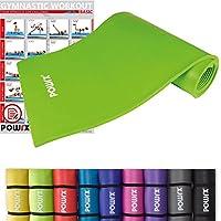 POWRX Gymnastikmatte inkl. Trageband + Workout   Trainingsmatte Yogamatte Phthalatfrei 190 x 60 x 1.5 cm oder 190 x 100 x 1.5 cm   verschiedene Farben