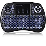 Mini inalámbrico teclado 92teclas 2,4gHz función de retroiluminación teclado Touchpad Ratón Combo–5diseño para Inglés, Italiano, Alemán, Español, Francés–Multimedia Portátil de mano para PC, Xbox 360, PS4, Android TV Box, Smart TV, etc.