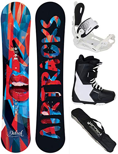 Airtracks Damen Snowboard Set - Board Daliah 140 - Softbindung Master W - Softboots Savage W 39 - SB Bag