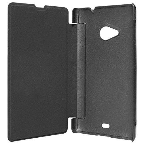 Kaira brand high quality Flip cover (black) For Microsoft nokia lumia 535 + screenguard  available at amazon for Rs.199