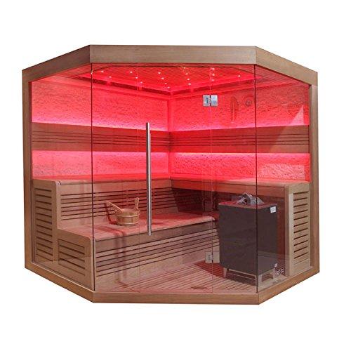 Preisvergleich Produktbild EO-SPA Sauna B1242C rote Zeder 180x180 9kW EOS BiO-Max