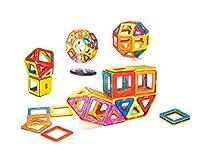 Supremery Magnetisches Bauklötze Bausteine Spielzeug Set | Lassen Sie Ihr Kind duch Farben und Formen lernen | Kreatives und pädagogisches Geschenk für Kinder | für Kinder über 3 Jahre