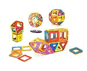 Supremery Magnetische Bauklötze Bausteine Konstruktions-Spielzeug Set | Lassen Sie Ihr Kind durch Farben und Formen lernen | Kreatives und pädagogisches Geschenk für Kinder über 3 Jahre (52 Teile)
