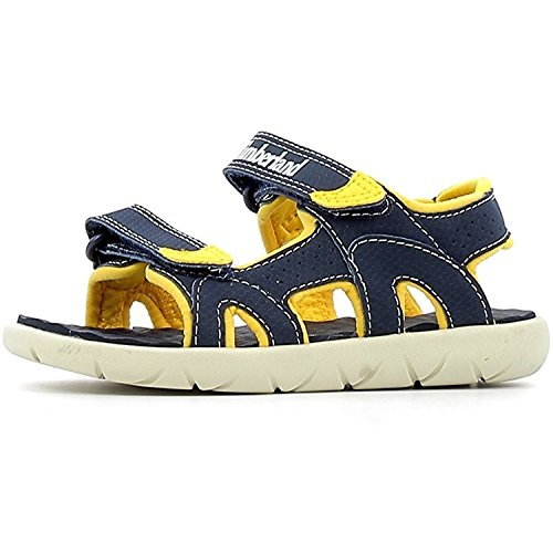 Timberland Unisex Kid s Perkins Row 2 Ankle Strap Sandals  Blue  Black Iris 19   4 5  21 EU