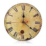 Soledi Vintage Wanduhr 12 Zoll römische Ziffern Desigh Verrostete Metall Aussicht Paris Toskanischen Stil Holz Uhr Zu Hause Dekoration Wanduhren