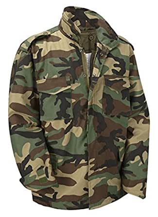 M65 Military Field Jacket With Removable Quilted Inner Liner-Woodland Camouflage (XS)