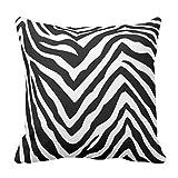 Cuscini per divano casa decorativo nero bianco zebrato copertura del cuscino 45,7x 45,7cm piazza tela Accent Pillow case per poltrone e sofà
