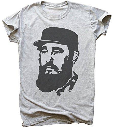 Fidel Castro Stencil Portrait Men's T-Shirt Large
