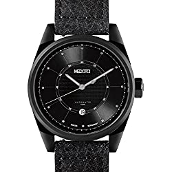 MEDOTA Grancey Men's Automatic Water Resistant Analog Quartz Watch - No. 2905 (Black/Black)