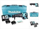 Makita DJR 360 RTK Reciprosäge Säbelsäge im Koffer 2x 18 V mit 2x BL 1850 5,0 Ah Akku und Ladegerät