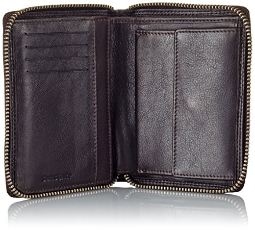 Samsonite ATTACK SLG WALLET ZIP AROUND M, Portafoglio uomo Dark Brown